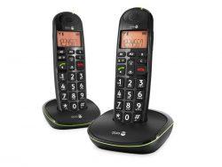 Doro PhoneEasy 100w Duo Dect Black