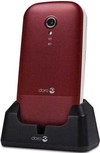Doro 2404 Red/White + Cradle