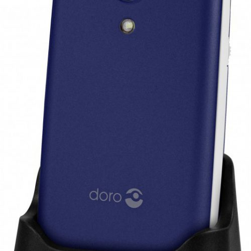 Doro 2414 Midnight Blue/White + Cradle