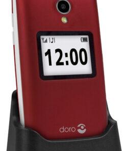 Doro 2424 Red/White + Cradle