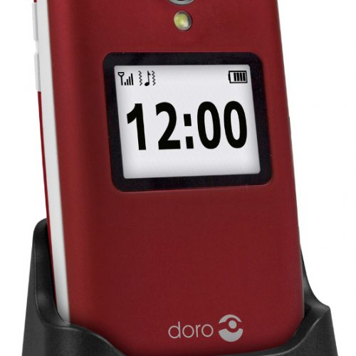 Doro 2424 Red/White + Cradle