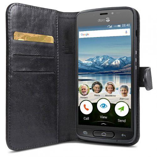 Doro 8040 Wallet Case Black